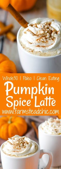 This Paleo and Pumpkin Spice Latte needs just 4 ingredients. In 10 minutes you'll have a healthy cup full of autumn right in your hands. Click The Image To Learn Paleo Recipes, Low Carb Recipes, Real Food Recipes, Drink Recipes, Free Recipes, Paleo Pumpkin Recipes, Juice Recipes, Soup Recipes, Keto Friendly Desserts