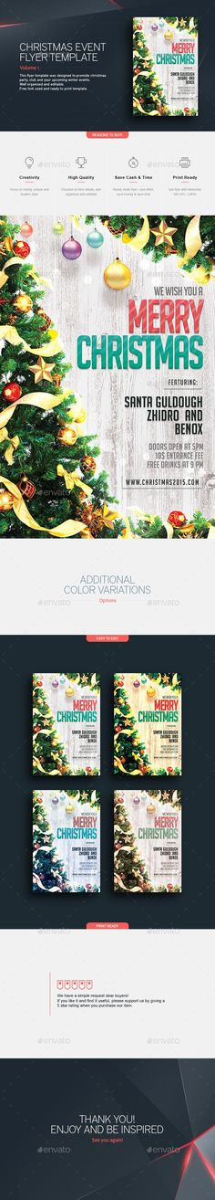 Christmas Party Flyer Template PSD #design #xmas Download: http://graphicriver.net/item/christmas-party-flyer-template/13280375?ref=ksioks