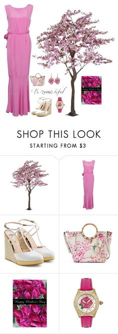 """Happy Mother's Day 💗"" by kotnourka ❤ liked on Polyvore featuring Fendi, Dana Buchman, Betsey Johnson and Rina Limor"