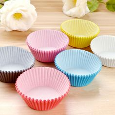 100Pcs Colorful Paper Cake Cupcake Liners Baking Muffin Cup Case Party Baking #Unbranded