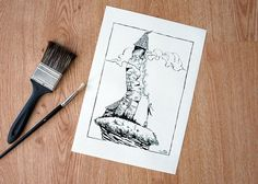 Rapunzel in the tower illustration   fairy tail by PinisArtShop