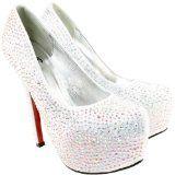 Womens Silver Diamante High Stiletto Heel Court Shoes $44.99