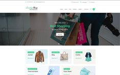 Ecommerce Template, Fashion Templates, Fashion Themes, Lovely Shop, Online Shopping Stores, Cloth Bags, Website Template, Wordpress Theme, Branding Design