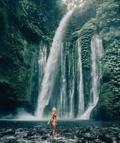 Waterfall exploring in Lombok