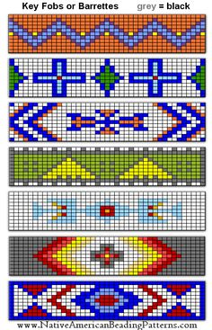 I have to make pearl patterns for the loom. I have to make pearl patterns for the loom. Loom Bracelet Patterns, Seed Bead Patterns, Bead Loom Bracelets, Peyote Patterns, Weaving Patterns, Indian Beadwork, Native Beadwork, Beaded Hat Bands, Bead Loom Designs