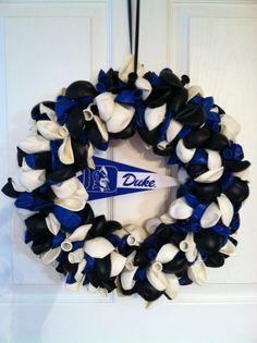 Duke blue devils balloon wreath 344bc3f179a3
