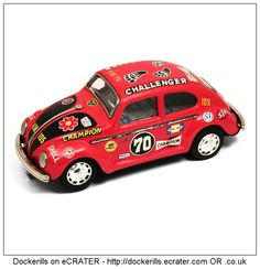 Love Love Beetle, TAIYO, Japan (2 of 3). Vintage Tin Litho Tin Plate Toy. Mystery Action / Battery Operated Mechanism.