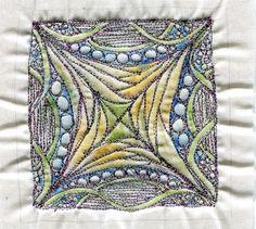 Zentangle quilting