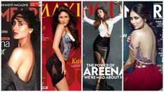 Bollywood actress Kareena Kapoor is getting sexier with age. The actress, who is in her mid-thirties, looks irresistibly hot on the cover of the July edition of Vogue India magazine wearing a black latex skirt combined with a front open white shirt holding dumb belle.  This is not the first time she has gone bold. Which, according to you, is her boldest magazine cover till date? itimes.com