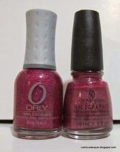 Put Up Your Dupes: Orly Miss Conduct vs China Glaze Infra Red Lustrous Lacquer