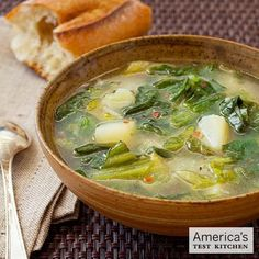 Potato and Escarole Soup (Menasha) from Tempe, AZ. From: Our Grandmothers' Kitchens. http://amzn.to/oTXOWB