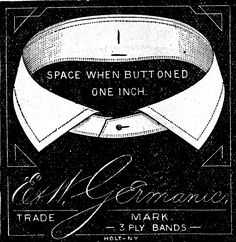 *The Graphics Fairy LLC*: Antique Clip Art - Men's Collar Ads