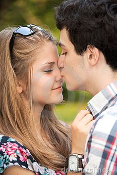 Portrait Happy Young Teenage Couple Stock Photography - Image: 20493642