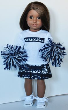 American Girl Clothes  Seattle Seahawks by LoriLizGirlsandDolls, $30.00
