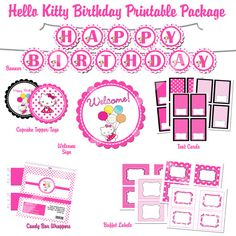50 off  DIY  Printable Hello Kitty  Birthday Party by photodesignz, $5.00