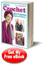 Free #Crochet Projects from FaveCrafts.com: 16 Free Crochet Hat Patterns, Scarves, & Gloves eBook