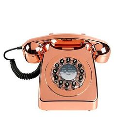 Find retro telephones at Exit Interiors. Buy stylish replica retro telephones at Exit Interiors. Copper Rose, Rose Gold, Copper Home Accessories, Tech Accessories, Samsung Accessories, Retro Phone, Oliver Bonas, Wild Wolf, Red Candy