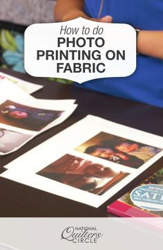 Photo Printing on Fabric National Quilters Circle Quilting Tips, Quilting Tutorials, Quilting Projects, Sewing Projects, Sewing Tips, Fabric Art, Fabric Crafts, Sewing Crafts, Fabric Painting