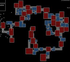 An overview of roguelike procedural map generation techniques, including BSP trees, tunneling algorithms, cellular automata, and more. Procedural Generation, Game Level Design, Generation Game, Graph Design, Building Games, Game Engine, Game Dev, Game Concept, Game Assets