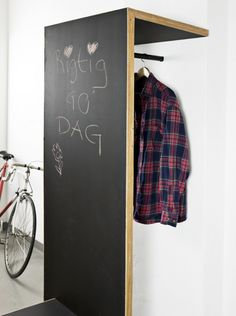 How cool for an entryway that doesn't need a closet, just a place to hang your coat.