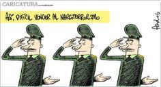El trazo de Andrés Edery sobre las Fuerzas Armadas de Perú.