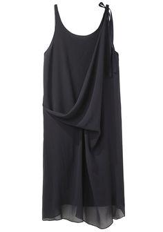 United Bamboo / Sleeveless Ribbon Pulled Dress