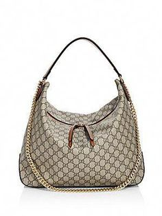 51e88ad84a25 Gucci Linea Large GG Supreme Canvas Hobo Bag  Guccihandbags Gucci Handbags
