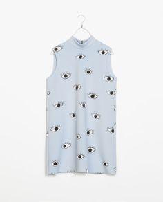 ZARA - TRF - PRINTED DRESS WITH BACK ZIP