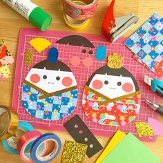Paper Crafts For Kids, Craft Activities For Kids, Easy Crafts, Diy And Crafts, Japanese Party, Japanese Kids, Hina Matsuri, Paper Flower Garlands, Japan Crafts