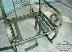 How To Repair A Lawn Chair Allsteel Office 17 Best Install Patio Furniture Repairs Images Vinyl Strap Chairs Refinished