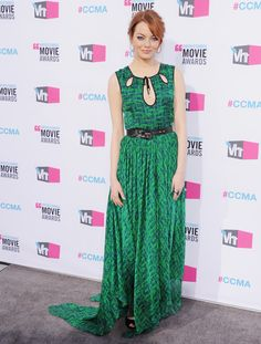 We loved Emma Stone's green cutout-front Jason Wu gown at the 2012 Critics' Choice Awards.