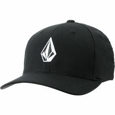 Volcom Full Stone Black Flexfit Fitted Caps e8a31928597