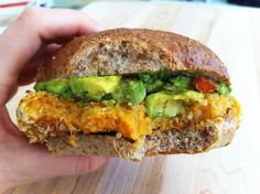 Made to Create: Chipotle Quinoa Sweet Potato Burgers with Crunchy Guacamole