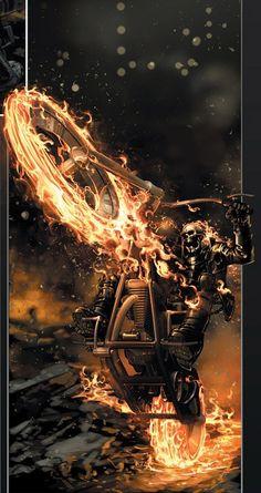 Ghost Rider, in highway to hell - Motoqueiro Fantasma, na estrada para o inferno Hq Marvel, Marvel Comics Art, Marvel Heroes, Captain Marvel, Ghost Rider Johnny Blaze, Ghost Rider Marvel, Iron Fist, Comic Books Art, Comic Art