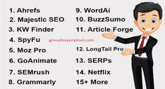 Are you looking for premium SEO tools but got a limited budget? If YES then no worries, We as a group buy provider offers all the premium tools at low price All Tools, Looking To Buy, Search Engine Optimization, Save Yourself, Seo, Budgeting, How To Become, Group, Stuff To Buy