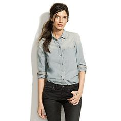 Madwell Shrunken Chambray Boyshirt