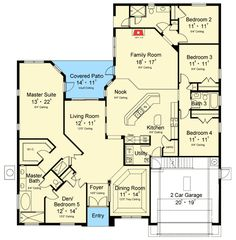Den or Fifth Bedroom - 63243HD | European, Florida, 1st Floor Master Suite, Butler Walk-in Pantry, Den-Office-Library-Study, PDF, Split Bedrooms | Architectural Designs