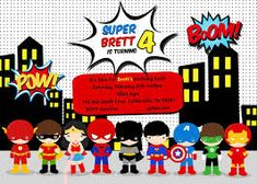 The wonderful Free Superhero Birthday Party Invitation Templates … In 2019 In Superman Birthday Card Template photograph below, is part … Superhero Party Invitations, Birthday Party Invitations Free, Birthday Card Template, Birthday Invitation Templates, Invitation Ideas, Superman Invitations, Free Printable Invitations Templates, Invitations Online, Invitation Wording