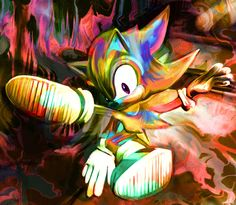 After looking at her impressive iconic pop culture portraits, it's hard to believe Australian artist Nicky Barkla has only been painting for less than a . Arte Pop, Shadow The Hedgehog, Sonic The Hedgehog, Sonic Art, Portraits, Traditional Paintings, Geek Culture, Pop Culture, Geek Art