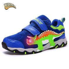 8f91d824f Dinoskulls 2017 Niños Zapatos Deportivos Para Niños Zapatillas de Deporte  de Cuero Transpirable Bebé Niños Corriendo Zapatos Otoño Zapatos de Ocio ...