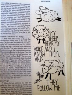 Cute sheep for bible journaling.