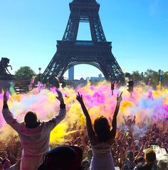 Paris came alive with color as 25,000 Color Runners filled the streets with an epic finish festival at the Eiffel Tower! Who wants to run is Paris with us next year?!