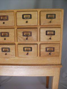 [BB-Blog]: Library Card Catalogue Cabinet.