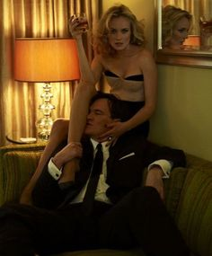 Quentin Tarantino and Diane Kruger By Jean-Baptiste Mondino
