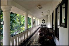 A Colonial Bungalow in Goa Colonial Mansion, British Colonial Decor, Colonial Architecture, Craftsman House Plans, Bungalow, Outdoor Living, House Design, Breakfast Nook, Porches