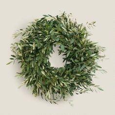 Live Olive and Eucalyptus Wreath
