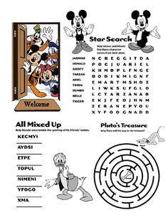 "Kids ""Disney"" Activity Book ** Updated 4/25 EPCOT ""Around the World"" pgs added - Page 4 - The DIS Discussion Forums - DISboards.com"