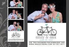 9F A tandem bicycle with a pop of #color on your #wedding day. #photobooth  imagecinema.com