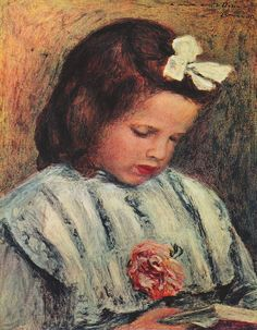 Pierre-Auguste Renoir - A Reading Girl