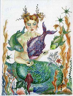 beautiful mermaid art!